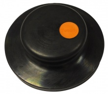 Tweeny Black Rubber Plug (Without Chain) - Orange Logo
